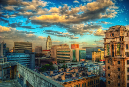 ca city sky urban architecture night clouds buildings la los high nikon downtown cityscape dynamic cloudy angeles cityhall 1855mm range dtla hdr d60 photomatix