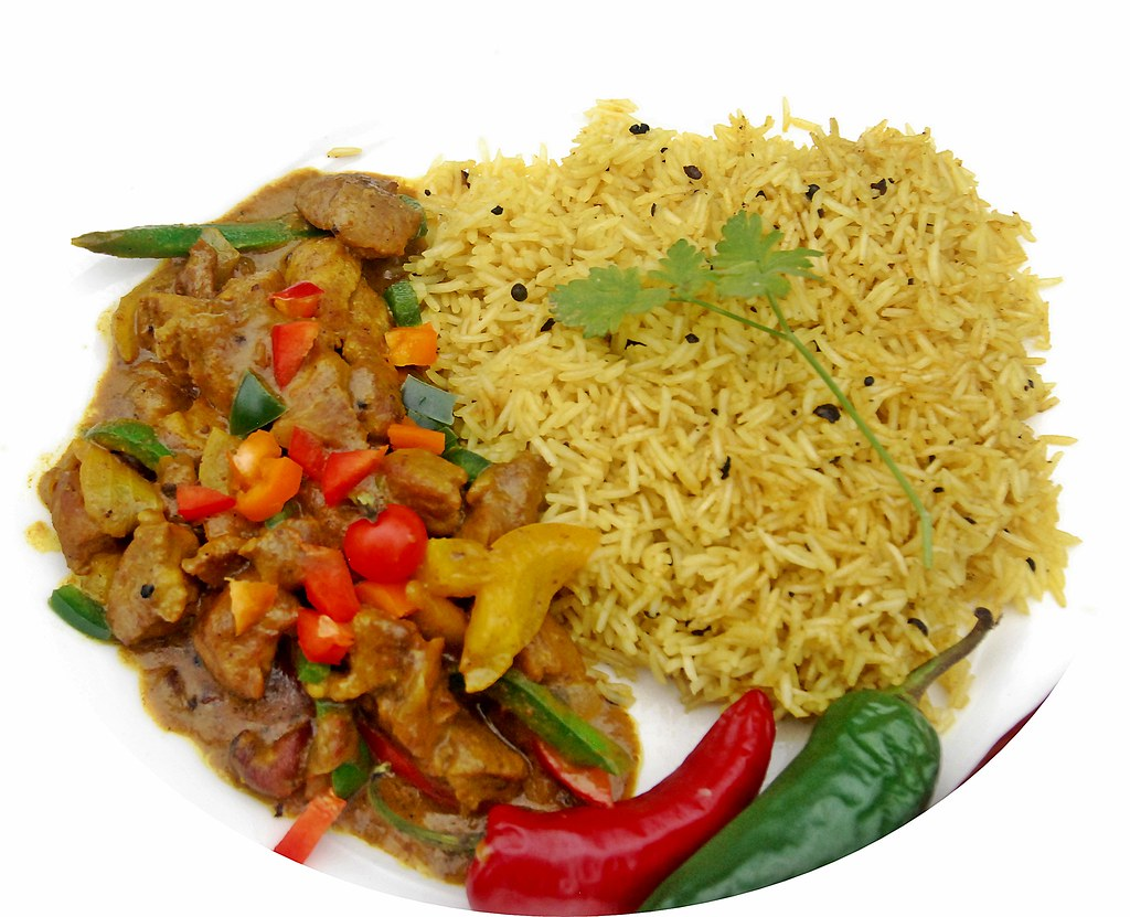 curry goat and calypso rice jamaican style  avery miller