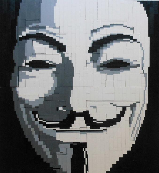 Guy Fawkes LEGO mosaic