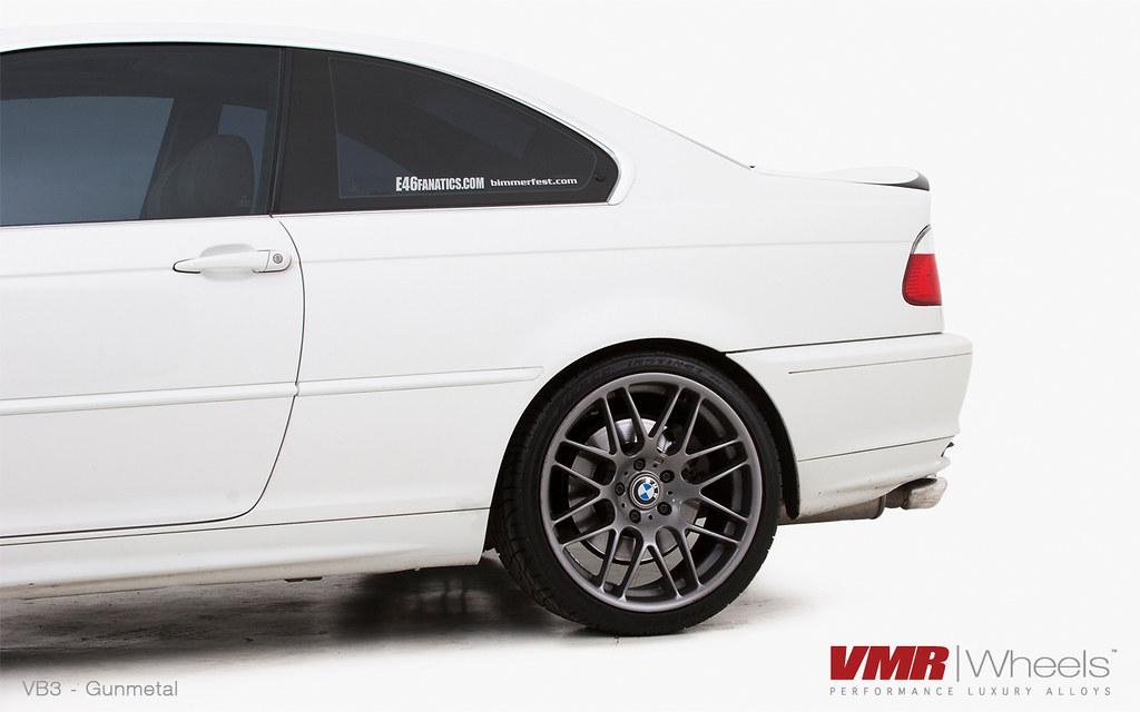 Vmr Wheels 18 Gunmetal Vb3 On Alpine White Bmw E46 328i Flickr