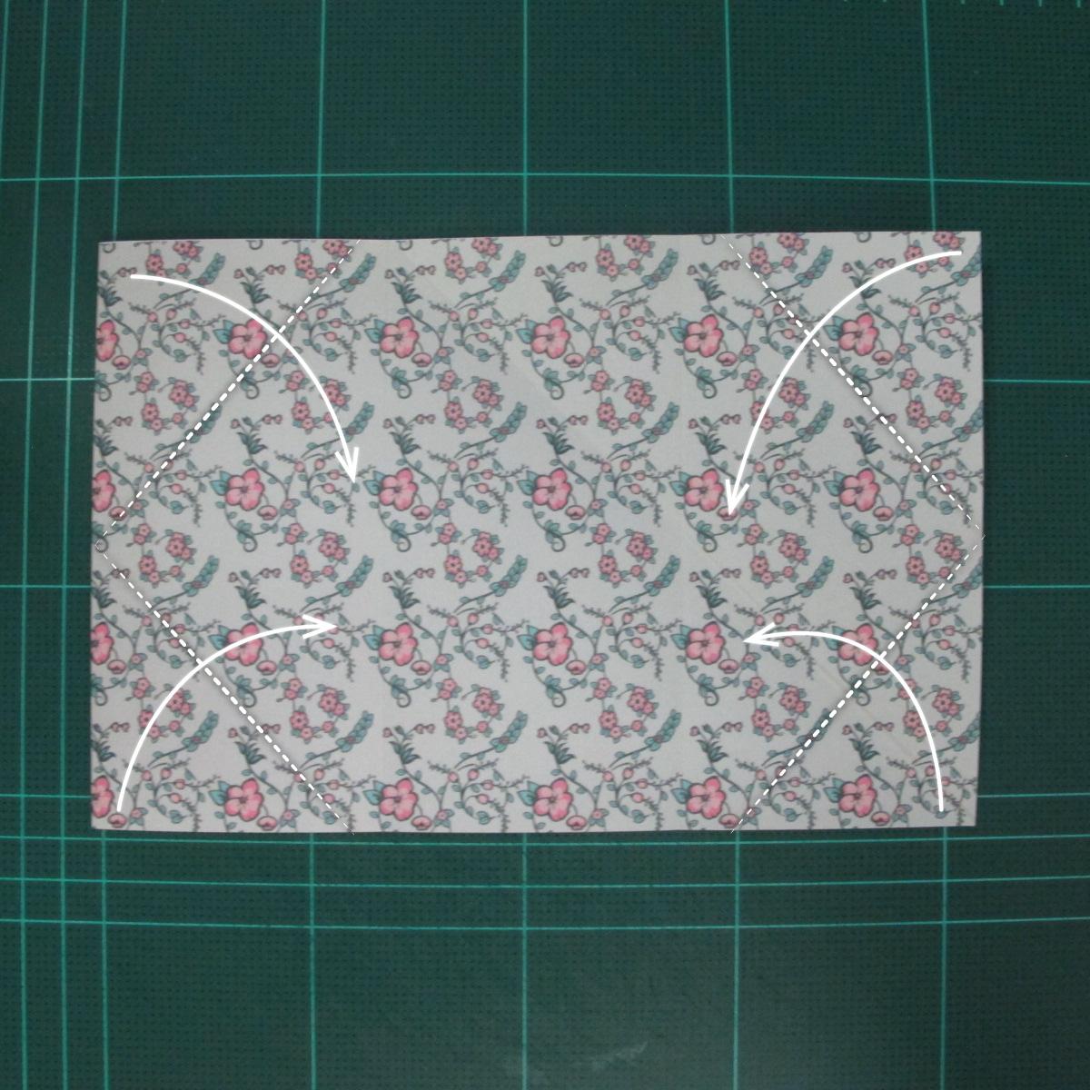 วิธีพับกระดาษรูปหัวใจคู่ (Origami Double Heart)  007