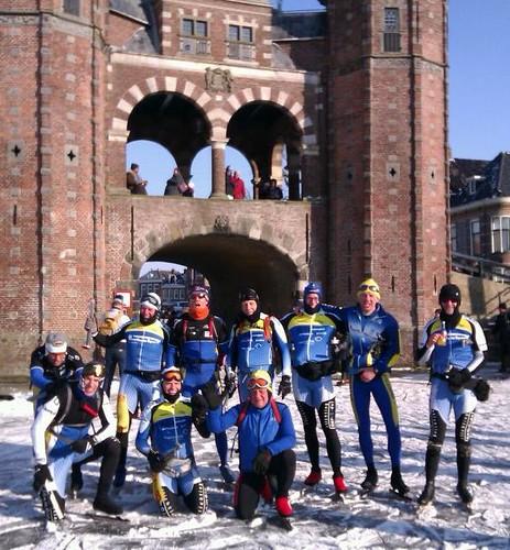10 DNIJ-ers in Sneek tijdens Elfstedentocht 2012 | by DNIJ Apeldoorn