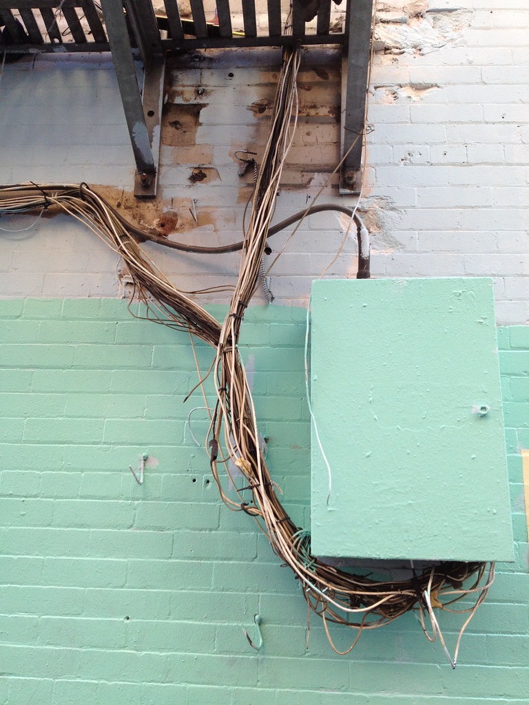 cool fuse box and dangerous wiring, jack kerouac alley | flickr  flickr