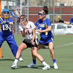 Temple's #4 Senior Midfielder Karly Cohen and Delaware's #6 Freshman Defender Mollie Smith