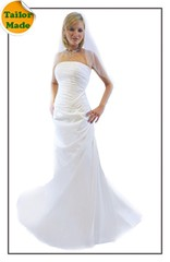Strapless Taffeta Small A Line Wedding Gown | by Sexyher