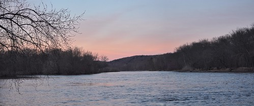 sunset red sky water river pa delaware pike dingmans