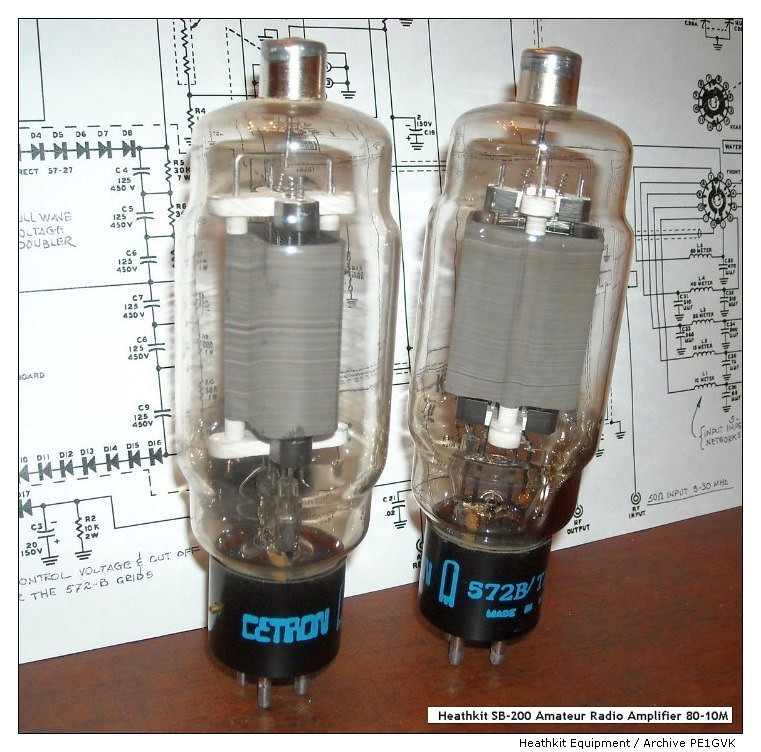 Heathkit Equipment - 2X Tube 572B / HF Linear Amplifier SB