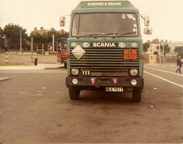 Albright & Wilson Scania 111 Dun Laoghaire harbour 1982