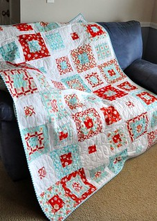 Skipping Squares Holiday Happy Quilt