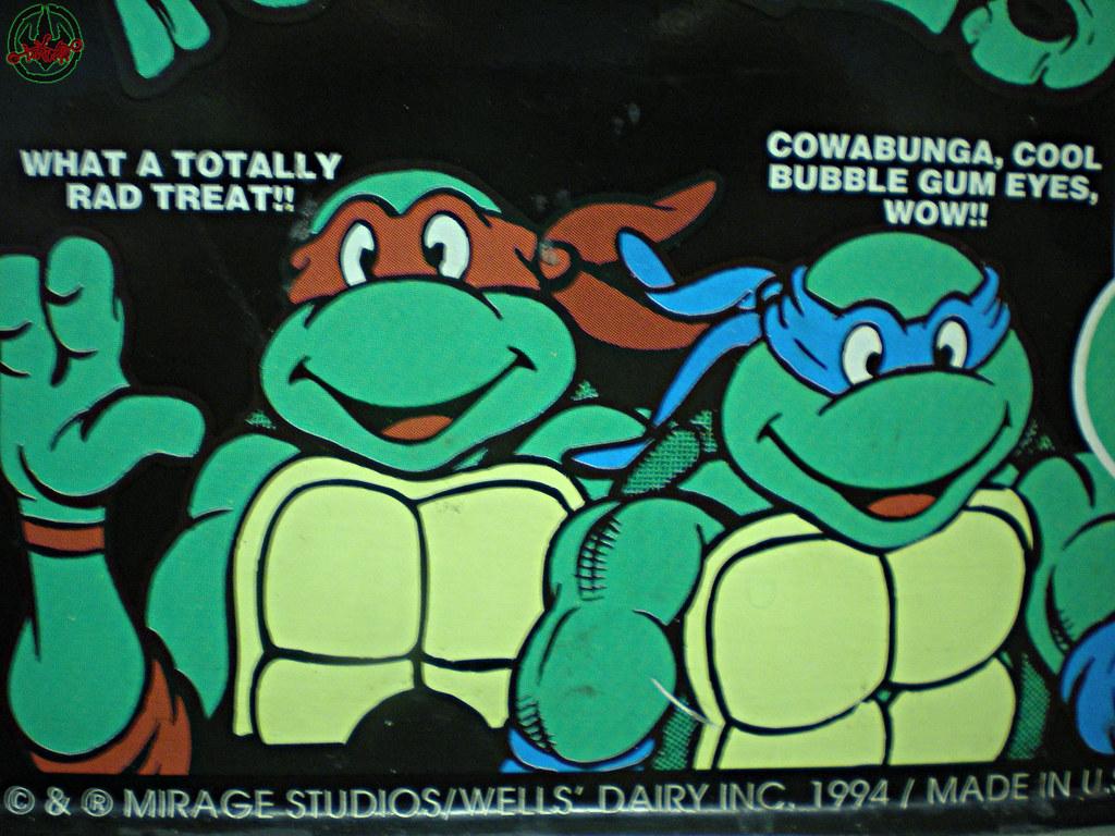 Blue Bunny :: Teenage Mutant Ninja Turtle 'Face' Bars - vendor sticker iv (( 1994 )) by tOkKa