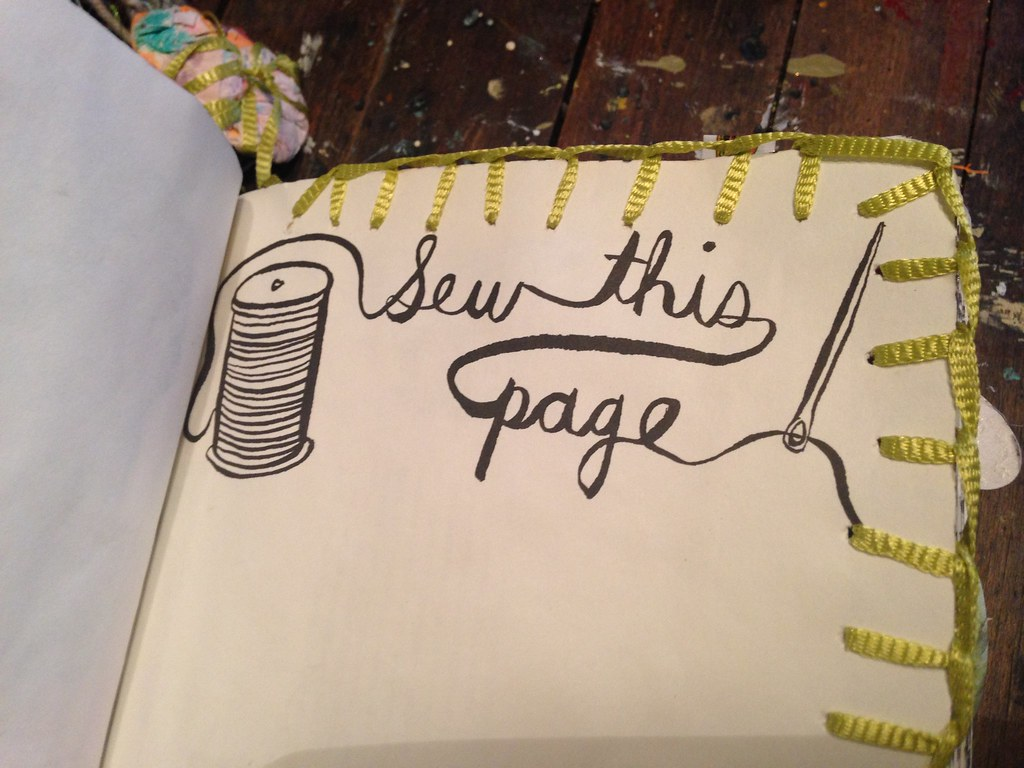 Wreck this Journal   Sew This Page   A Journey on the Road ...  Wreck This Journal Sew This Page