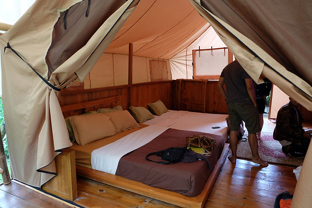 Some glamping entrepreneurs consider that all they need to do is erect at tent and they can call it glamping. However, unless they also include substantial space and comfort it cannot be considered to be glamping. Crammed tents with little amenity is not glamping.