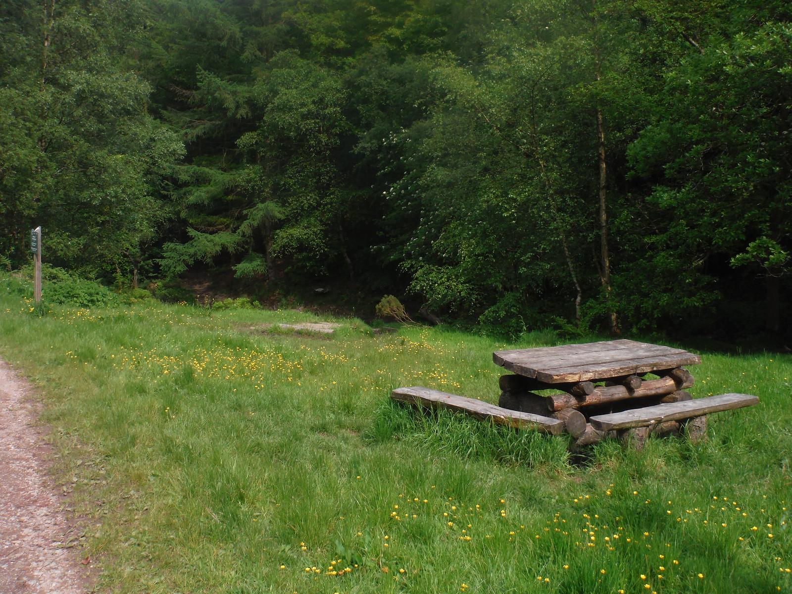 Picnic Area in the Limb Valley SWC Walk 267 - Sheffield Circular (via Porter, Limb, Sheaf and Gleadless Valleys)