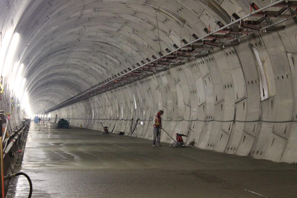... Evergreen Line Tunnel concrete work - by TranBC