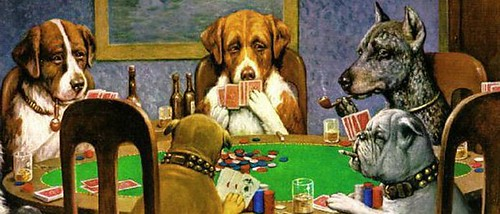 Poker playing dogs | by AAF262
