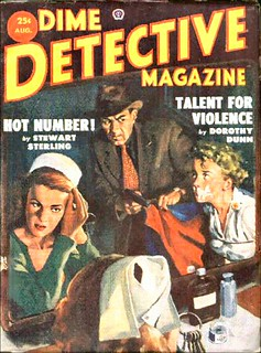 53b Dime Detective Magazine Aug-1953 Includes Death Drives Faster by E. Hoffmann Price | by CthulhuWho1 (Will Hart)