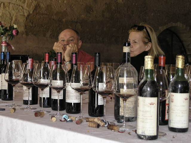 Murray Jacobs and Catherine Billups at the wine tasting at COS Azienda Agricola,