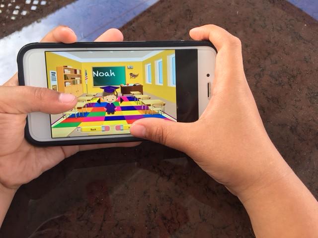 app in kids hand