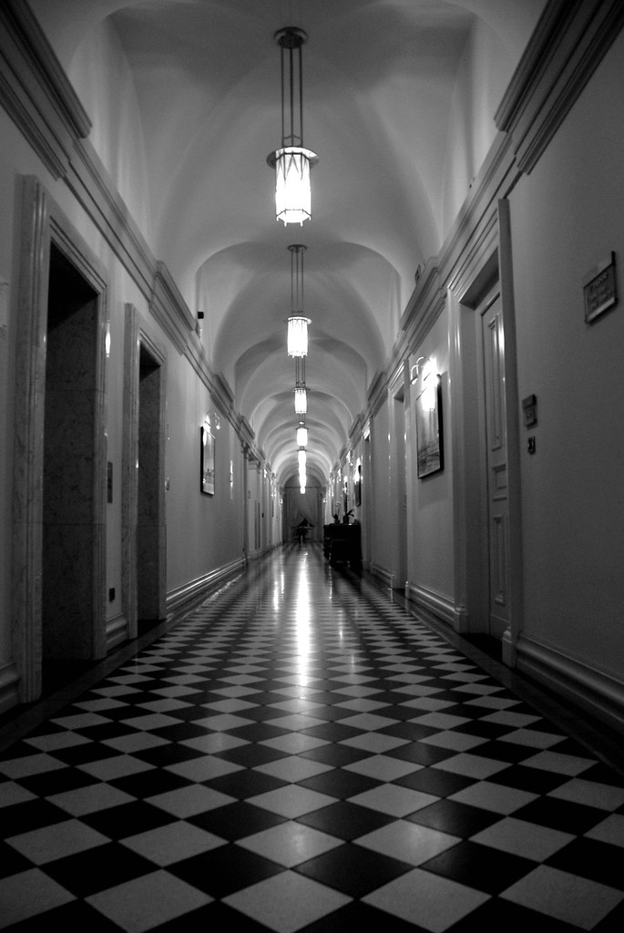 Solitude Black And White Hotel Boscolo Prague Radu09