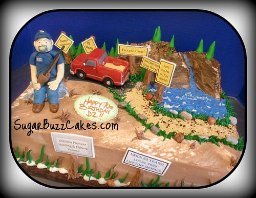 Incredible Hunting Birthday Cake Carol Flickr Personalised Birthday Cards Epsylily Jamesorg