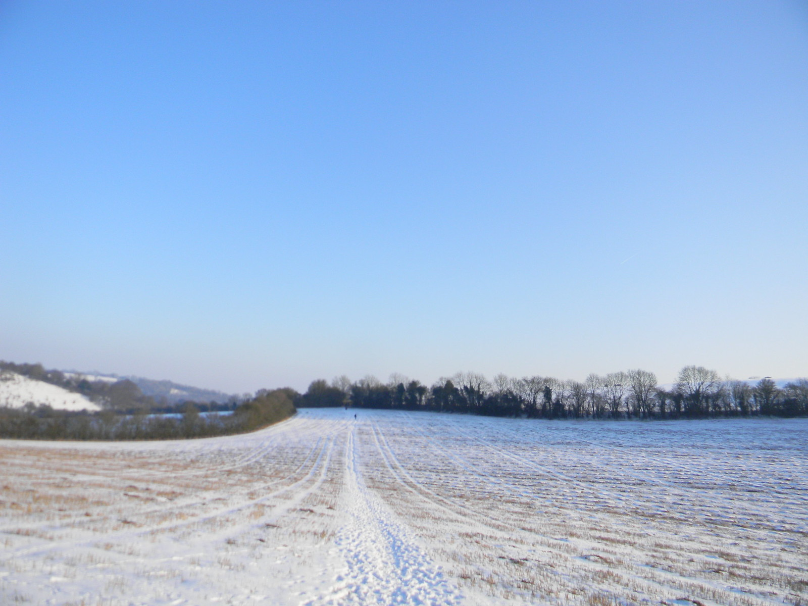 Snowy wastes Saunderton to Bledlow