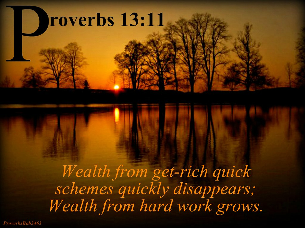 Image result for Proverbs 13:11