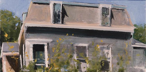 Image credit: Eric Aho, Cape Mansard, 2008, oil on linen, 12 x 24 inches. © Eric Aho