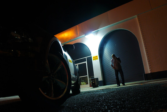 Matt and the Beast Doin the Business : Florida Service Station Okahumka : USA