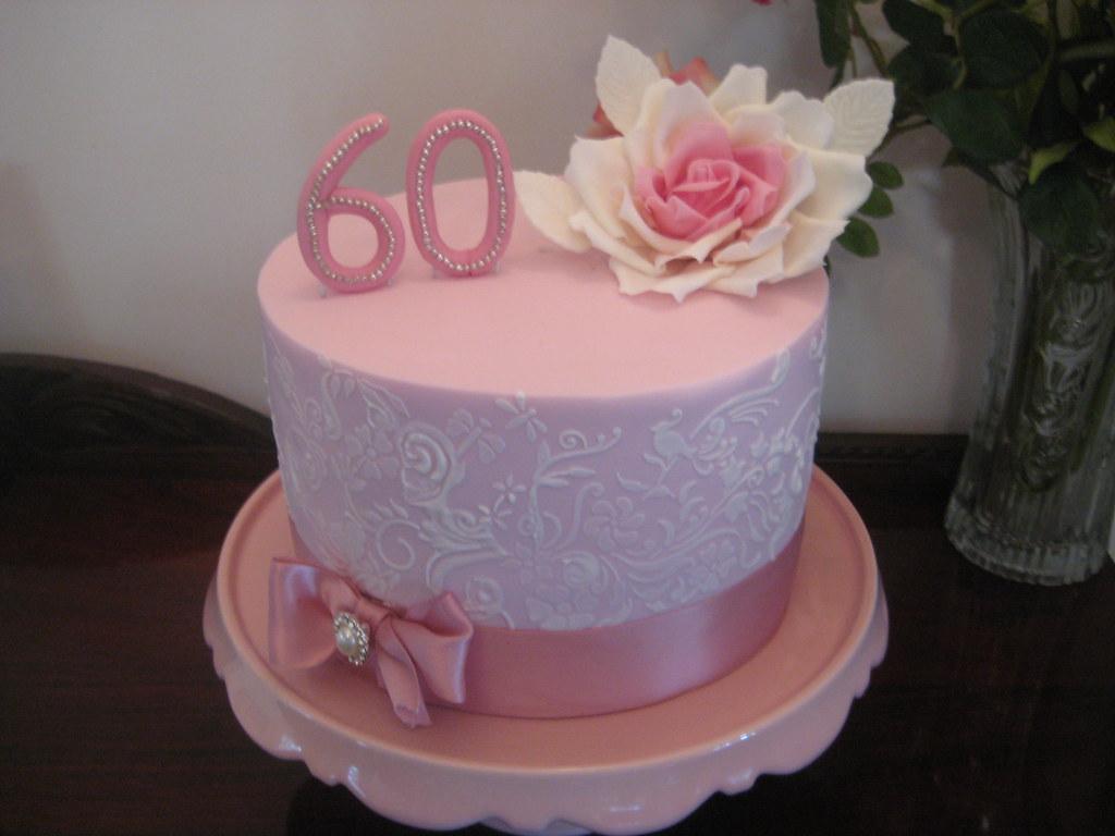 Surprising 60Th Birthday Cake Red Velvet Cake Filled With Cream Chees Flickr Personalised Birthday Cards Vishlily Jamesorg