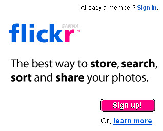 Flickr Sign Up SnagIt Capture | Flickr Sign Up Captured with