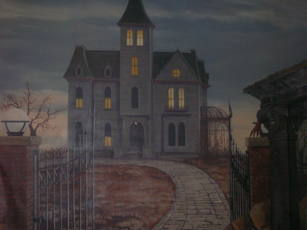 Haunted House  This Painting Was Inspired By The Tv Show -2895