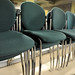 Green office waiting room chairs