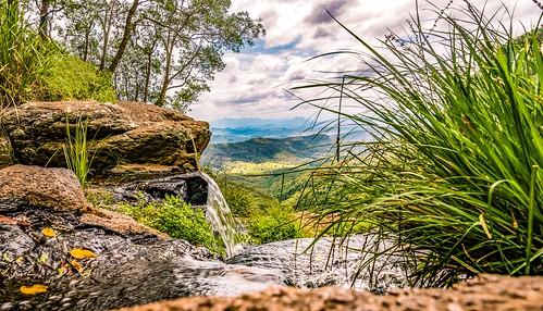 waterfall morans falls lamington national park queensland australia mountains views