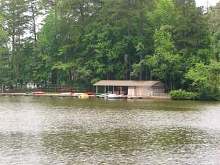 William B. Umstead State Park Big Lake boathouse