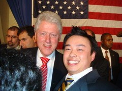 President Bill Clinton and Dave Tran