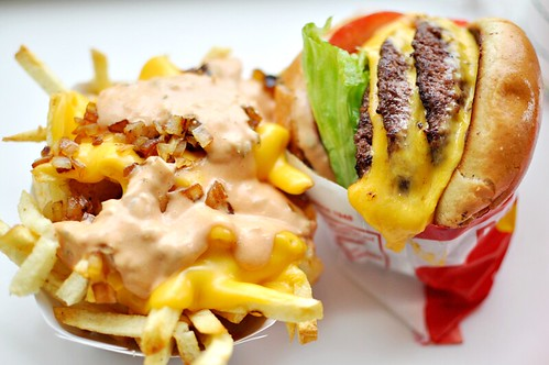 Animal Fries + 3x3 Cheeseburger | by punctuated