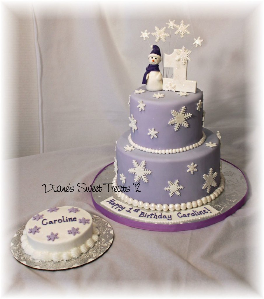 Tremendous Snowflake First Birthday Cake And Smash Cake Carolines Fi Flickr Funny Birthday Cards Online Alyptdamsfinfo