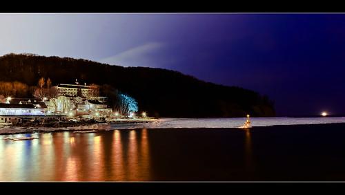 flickrstruereflection1 flickrstruereflection2 nightwinterseacoastpolandpolskagdyniaorłowomorze zimanocnełapińskilandscape