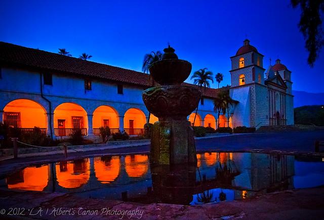 Old Mission Santa Barbara in Blue!