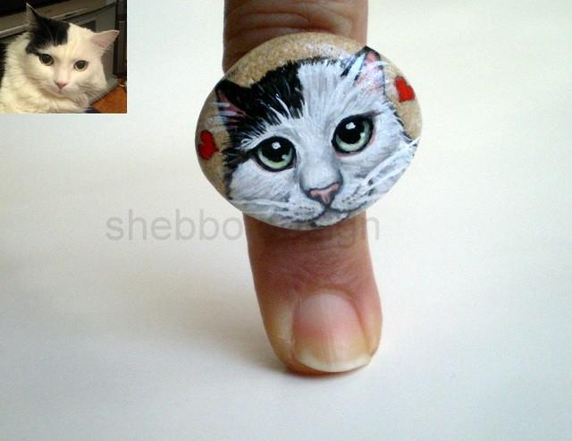 Tas Boyama Kedi Yuzuk Kisiye Ozel Pelin Hn Shebbo Design Flickr