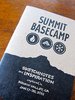 Summit Basecamp: Sketchnote Book: Cover Detail | by Mike Rohde