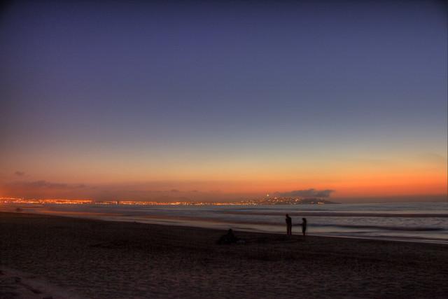Playa Peñuelas (beach) at sunset, La Serena, Coquimbo Region, Chile 1