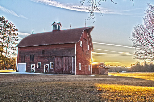 sunset farms farmfield arkdale wisconsinsky wisconsinfarm hdrfarm hdrbarn arkdalewisconsin wisconsinbarnwisconsinsunset