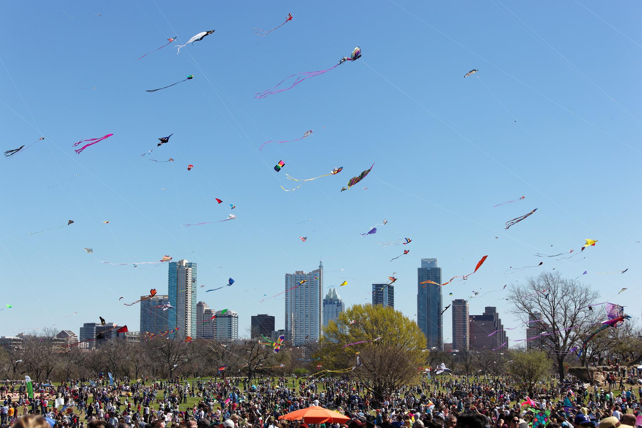 Kites over Austin