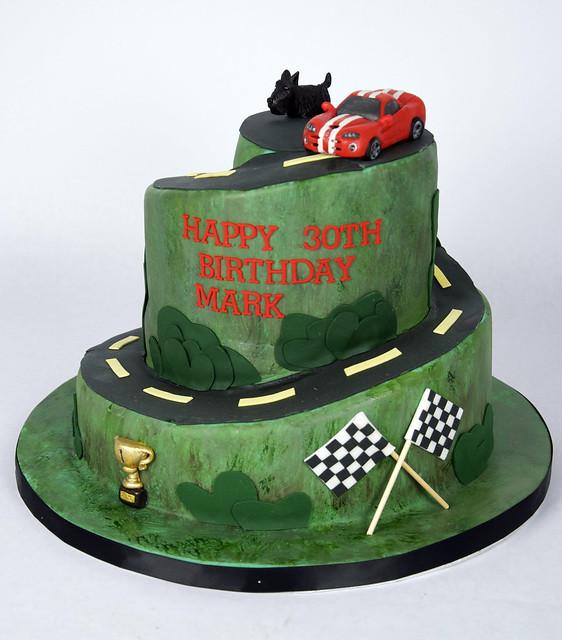 BC4077 - viper car race cake toronto