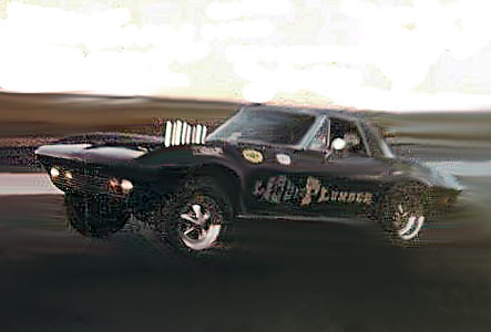 64 Corvette Gasser at the drags in 71 | Pete Brafford | Chop