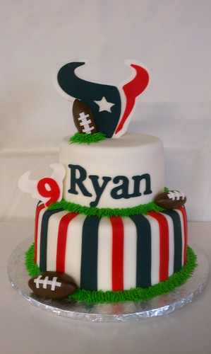 Texans Football Birthday Cake | by Little Sugar Bake Shop