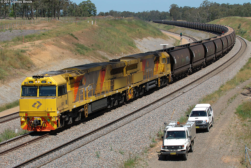 5031 and 5032 at the Golden Highway by James Brook