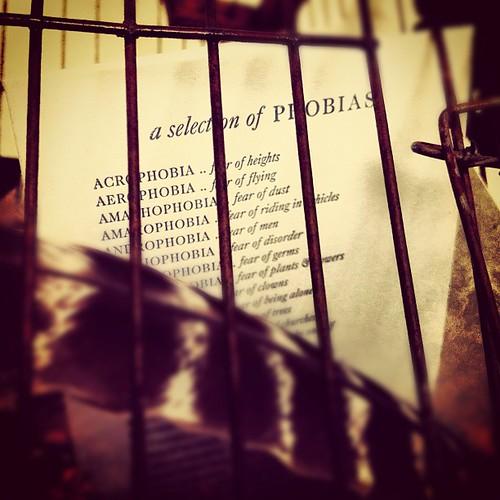 a selection of phobias | by sarahwulfeck