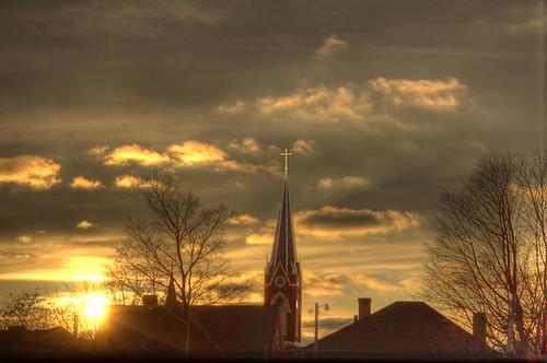 sunset church stjohns indiana richmond lutheran jimhairphoto